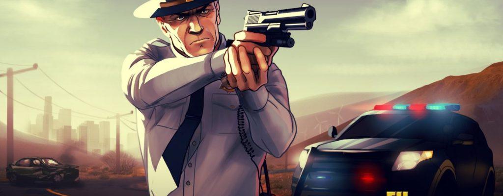 GTA5 Cop mit Waffe
