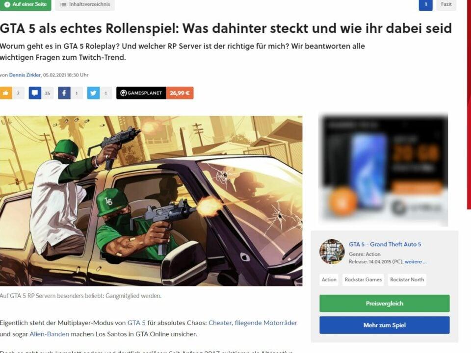 Gamestar Artikel