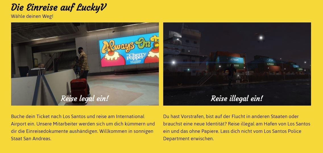 Einreise LuckyV